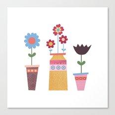 Floral Pots Canvas Print