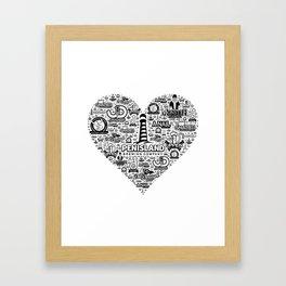 Pen Island Brewing Company Love Framed Art Print