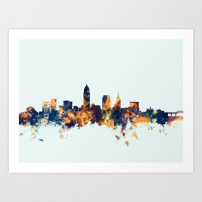 Cleveland Ohio Skyline Kunstdrucke