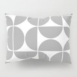 Mid Century Modern Geometric 04 Grey Pillow Sham