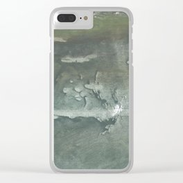 Swamp watercolor Clear iPhone Case