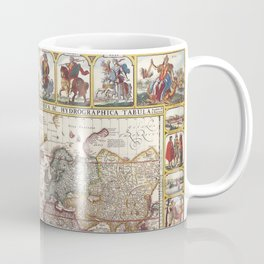 1652 Map of the World, Doncker Sea Atlas World Map Coffee Mug
