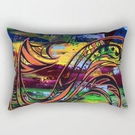 Copper lines Rectangular Pillow