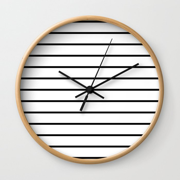 Minimalist Stripes Wall Clock
