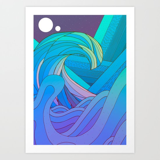 The Many Waves Art Print