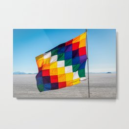 The colourful Wiphala flag Metal Print