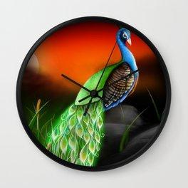 Magic Peacock Wall Clock