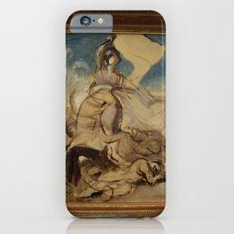 Eugne Delacroix - Esquisse pour La Liberte guidant le peuple iPhone Case