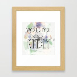 Would You Kindly - Bioshock Framed Art Print