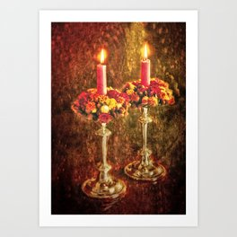 Christmas for two Art Print