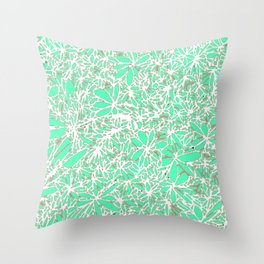 Flowers in water Throw Pillow