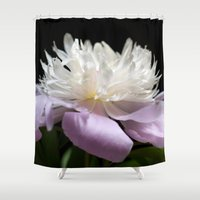 peony Shower Curtains featuring Peony  by Maria Rose Collection