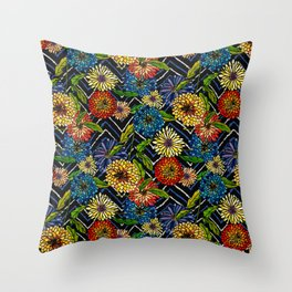 Chrissy Flowers Bohemian Throw Pillow