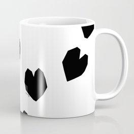 Love Yourself no.2 - black heart pattern love art black and white illustration Coffee Mug