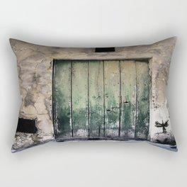 Green Door III Rectangular Pillow