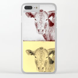 Here's Looking at Moo Clear iPhone Case