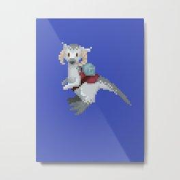Pixel / 8-bit Star Wars Baby Tauntaun Ram Metal Print