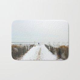 Snow Covered Beach Bath Mat