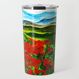 poppy field 2 Travel Mug