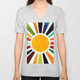 Sun Retro Art Unisex V-Neck