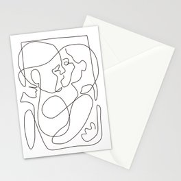 Lovers - Minimal Line Drawing 6 Stationery Cards