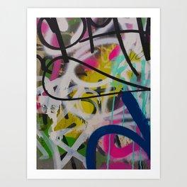 Graffiti Spray Wall Art Bologna Summer Art Print