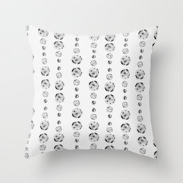 planet rain - black and white Throw Pillow