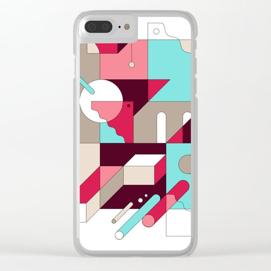 Abstraction I Clear iPhone Case