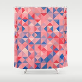 colorful Triangles 1 Shower Curtain