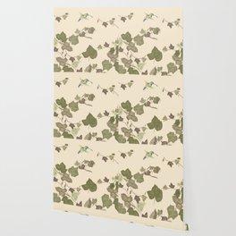 Ivy & hummingbird Wallpaper