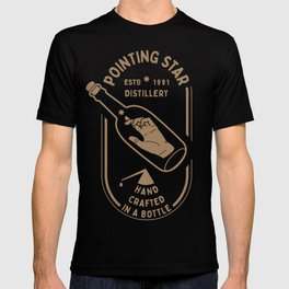 POINTING STAR HAND IN THE BOTTLE T-shirt