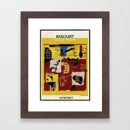 Basquiat+bolles wilson Framed Art Print