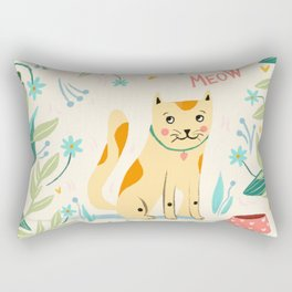 Meow cat Rectangular Pillow