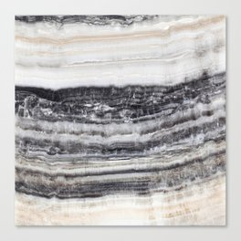 MARBLE ABSTRACT CHARCOAL Canvas Print