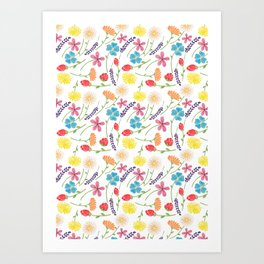 The Little Flowers  Print Art Print