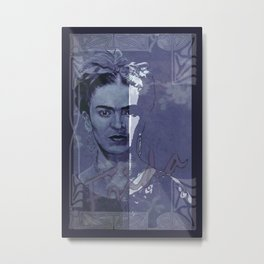 Frida Kahlo - between worlds Metal Print