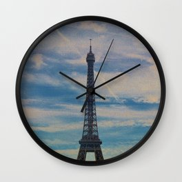 Eiffel Tower, Paris (Landscape) Wall Clock