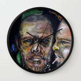Queen of Fashion (oil on canvas) Wall Clock
