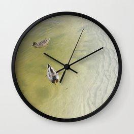Floating Ducks Wall Clock