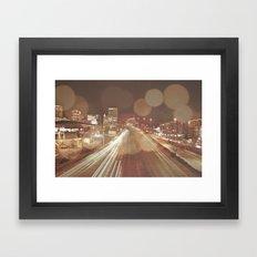 Light Streaks Framed Art Print