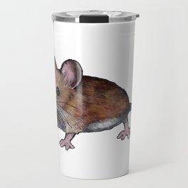 Brown Mouse, Oil Pastel Art, Little Critter Travel Mug