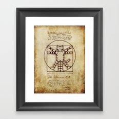 Vitruvian Cat Framed Art Print