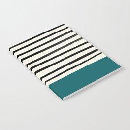 Dark Turquoise & Stripes Notebook