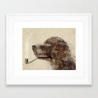 labrador Framed Art Prints featuring hello labrador by bri.buckley