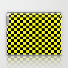 Yellow Black Checker Boxes Design Laptop & iPad Skin