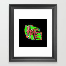 Hope (retro neon 80's style) Framed Art Print