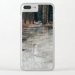 Frozen path, fun skating Clear iPhone Case