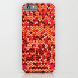 Melange knit textile 3 iPhone Case