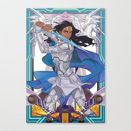 The blue knight Canvas Print