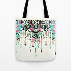 Modern Deco in Pink and Turquoise Tote Bag